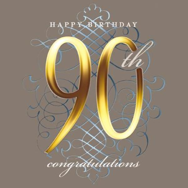 Happy 90th Birthday Congratulations