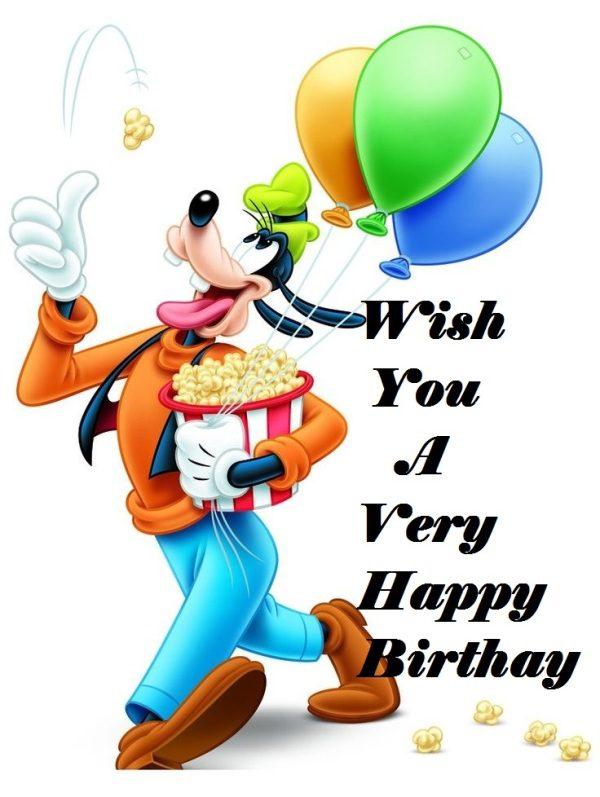 Happy Birthday With Goofy