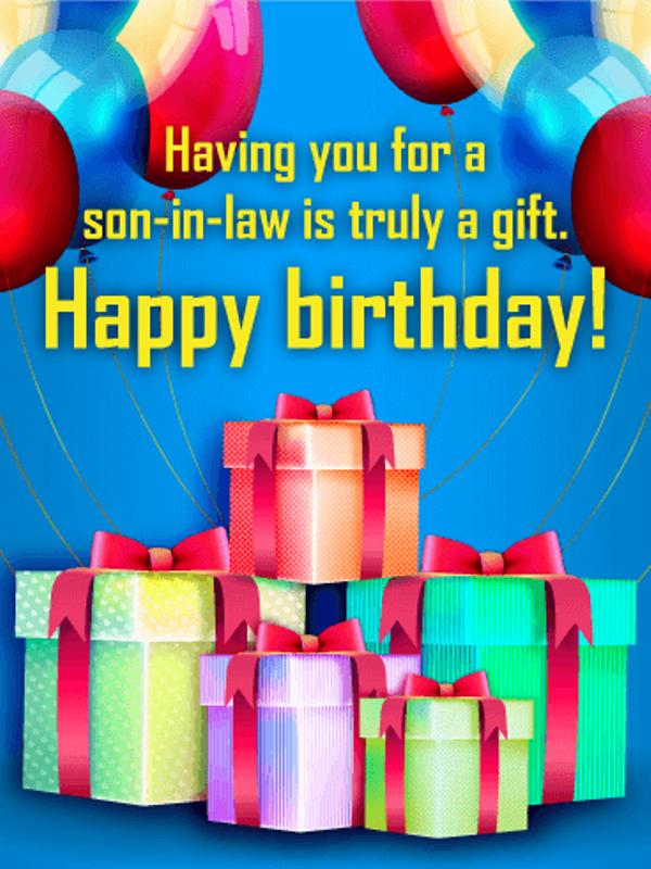 Pleasing 24 Happy Birthday Images For Son In Law Funny Birthday Cards Online Benoljebrpdamsfinfo
