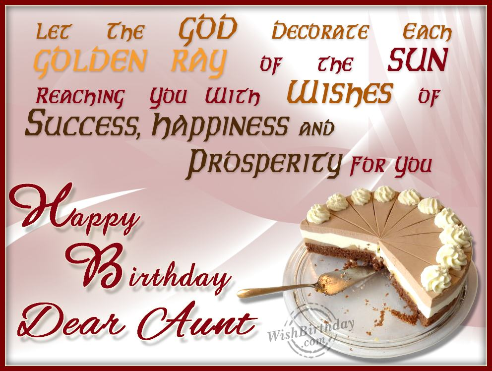 41 warm birthday wishes for aunt let the god decorate each golden ray m4hsunfo