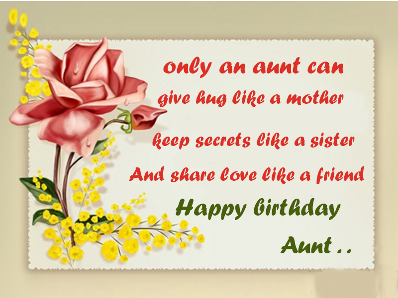 41 warm birthday wishes for aunt only an aunt can give hug like a mother m4hsunfo