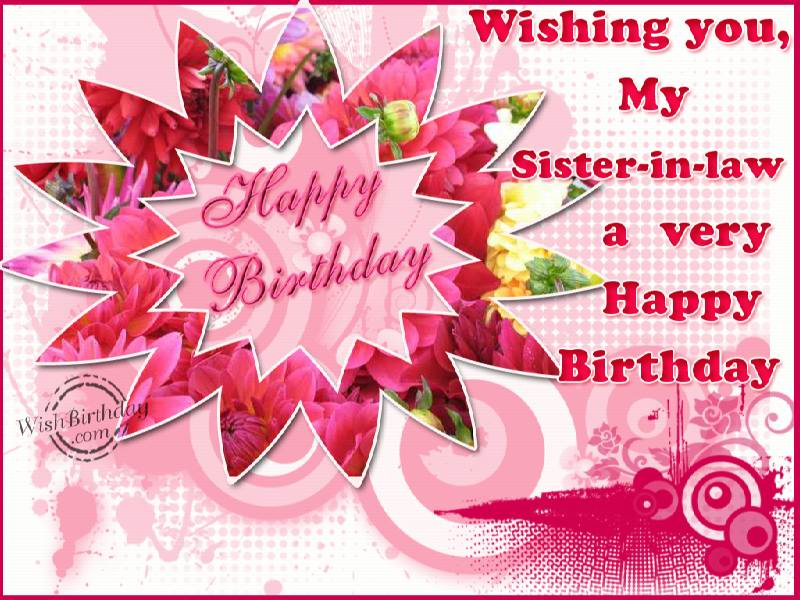 Charming Wishing You My Sister In Law
